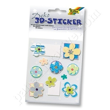 Folia 3D-Sticker Set Renkli